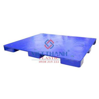 Pallet Nhựa Liền Khối Một Mặt PL497 Cao