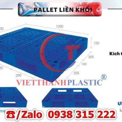 Pallet Nhựa Liền Khối PL19-LK