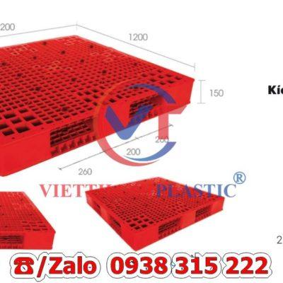 Pallet Nhựa Liền Khối PL20-LK