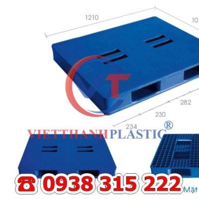 Pallet Nhựa Mặt Đặc Liền Khối PL24-LK