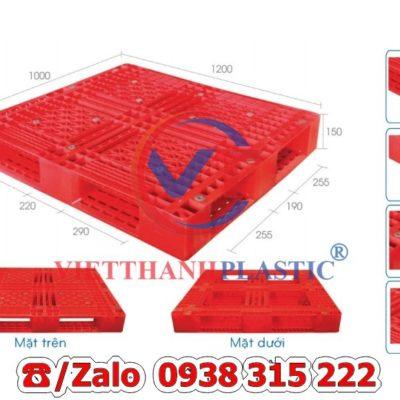Pallet Nhựa Liền Khối PL12-LK