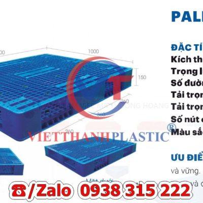 Pallet Nhựa Liền Khối PL18-LK