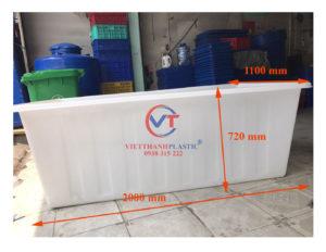 Thùng Nhựa Dung Tích Lớn 1200L Dệt Nhuộm Vải