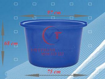 Thùng Nhựa Tròn Dung Tích Lớn 350L Dệt Nhuộm Vải