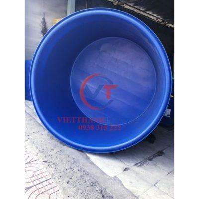 Thùng Nhựa Tròn Dung Tích Lớn 400L Dệt Nhuộm Vải