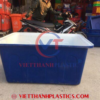 Thùng Nhựa Chữ Nhật Dệt Nhuộm Vải 750L 2 Lớp