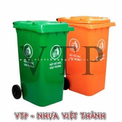 Thùng rác nhựa HDPE 240 lít nắp kín