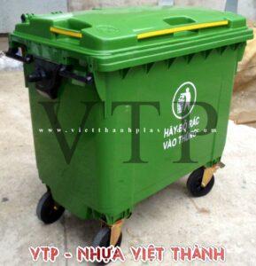Thùng rác - Xe thu gom rác nhựa HDPE 660L
