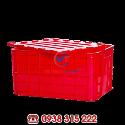 Thùng nhựa đặc HS019 – Sóng bít 3T1