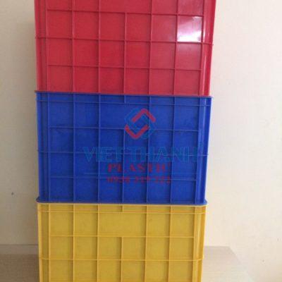 Thùng nhựa 8T đặc – Sóng bít 8 tầng