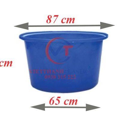 Thùng Nhựa Tròn Dung Tích Lớn 250L Dệt Nhuộm Vải