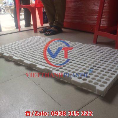 Sàn nhựa chăn nuôi dê - bò - gà - vịt 50 x 100 cm lỗ tròn