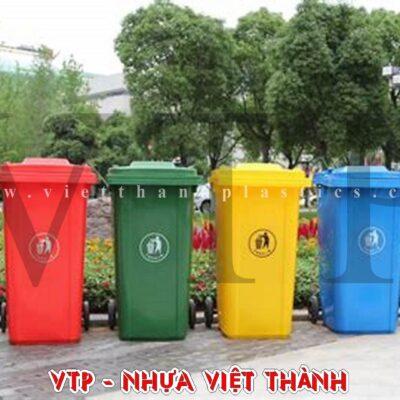 Thùng rác nhựa HDPE 240 lít nắp hở